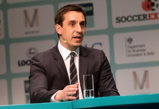 Football - Soccerex European Forum - Manchester - 11/4/13  England coach and Sky Sports pundit Gary Neville talks during the Soccerex European Forum  Mandatory Credit: Ross Brownlee / Soccerex via Action Images  Livepic