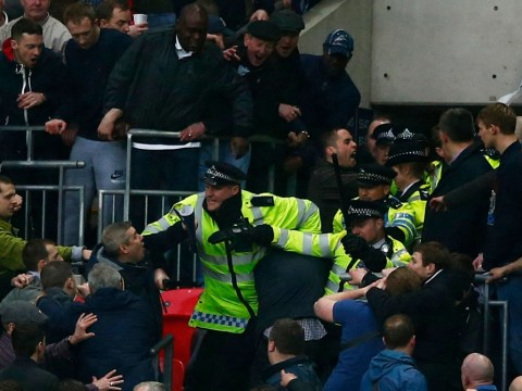 Two charged over Millwall football violence at Wembley