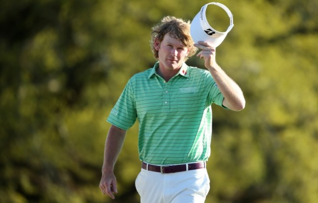 AUGUSTA, GA - APRIL 13:  Brandt Snedeker of the United States waves to the crowd on the 18th green during the third round of the 2013 Masters Tournament at Augusta National Golf Club on April 13, 2013 in Augusta, Georgia.  (Photo by Andrew Redington/Getty Images)