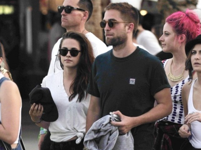 Kristen Stewart and Robert Pattinson at Coachella 2013
