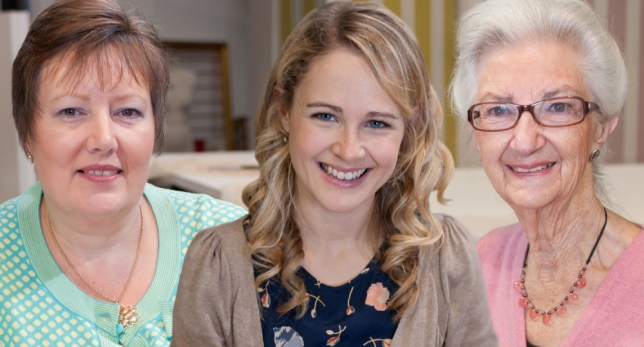 Sandra, Lauren, Ann, Great British Sewing Bee