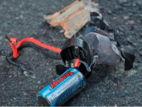 Boston marathon bombs: First pictures of explosive devices