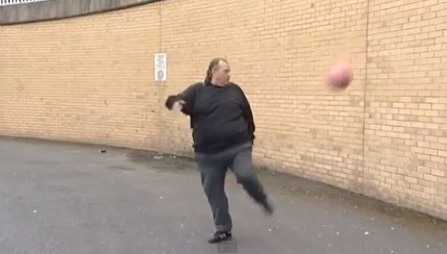 King of the keepy-uppy: Andrew Cassidy showcases his skills (Picture: YouTube)