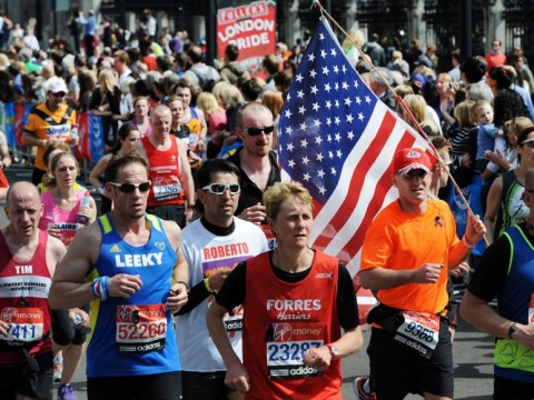 Thousands of London marathon runners observe 30-second silence for Boston