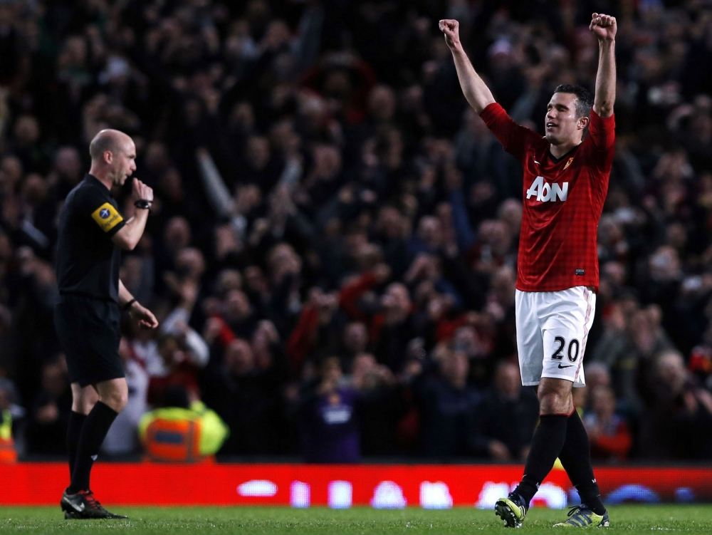 Manchester United crowned Premier League champions after Robin van Persie hat-trick