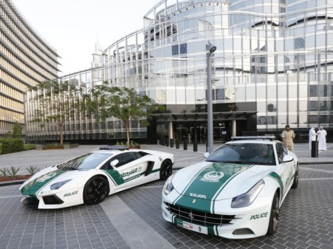 Dubai police add Ferrari to fleet of patrol cars weeks after unveiling Lamborghini