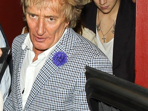 Unlikely pals: Harry Styles joins Rod Stewart and Penny Lancaster for dinner in LA