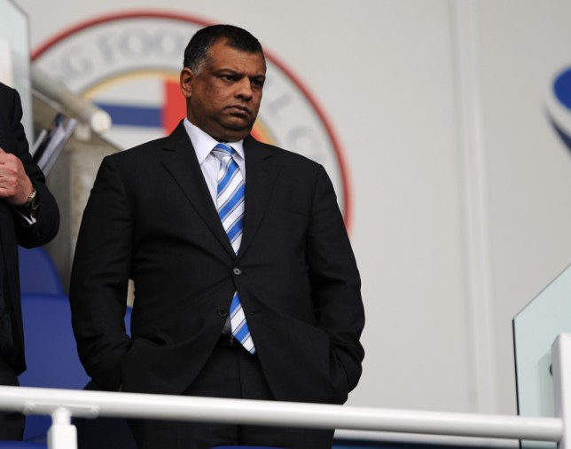 Queens Park Rangers owner, Tony Fernandes takes his seat in the directors box before the Barclays Premier League match at the Madejski Stadium, Reading. PRESS ASSOCIATION Photo. Picture date: Sunday April 28, 2013. See PA story SOCCER Reading. Photo credit should read: Nigel French/PA Wire. RESTRICTIONS: Editorial use only. Maximum 45 images during a match. No video emulation or promotion as 'live'. No use in games, competitions, merchandise, betting or single club/player services. No use with unofficial audio, video, data, fixtures or club/league logos.