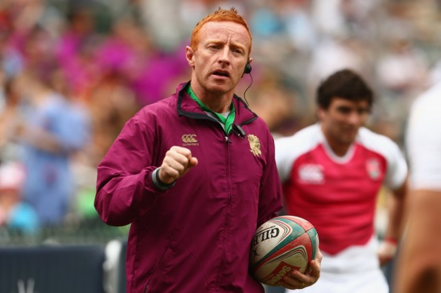 SO KON PO, HONG KONG - MARCH 23:  England coach Ben Ryan gives instructions during warm-up before the match between England and Scotland on day two of the 2013 Hong Kong Sevens at Hong Kong Stadium on March 23, 2013 in So Kon Po, Hong Kong.  (Photo by Mark Kolbe/Getty Images)