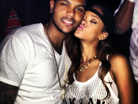 Rihanna hints again that she and Chris Brown have split while he says he 'can't win'