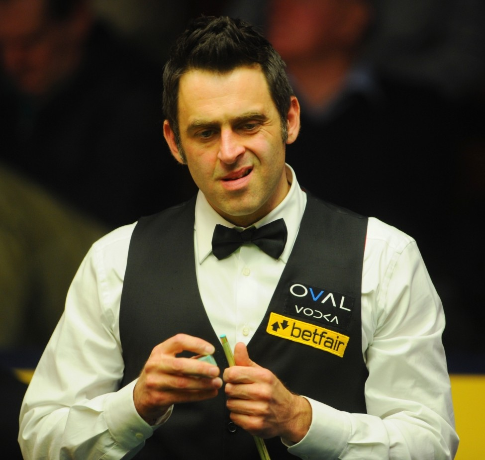 SHEFFIELD, ENGLAND - APRIL 30:  Ronnie O'Sullivan of England looks on during his match agaionst Stuart Bingham during the Betfair World Snooker Championship at the Crucible Theatre on April 30, 2013 in Sheffield, England.  (Photo by Michael Regan/Getty Images)