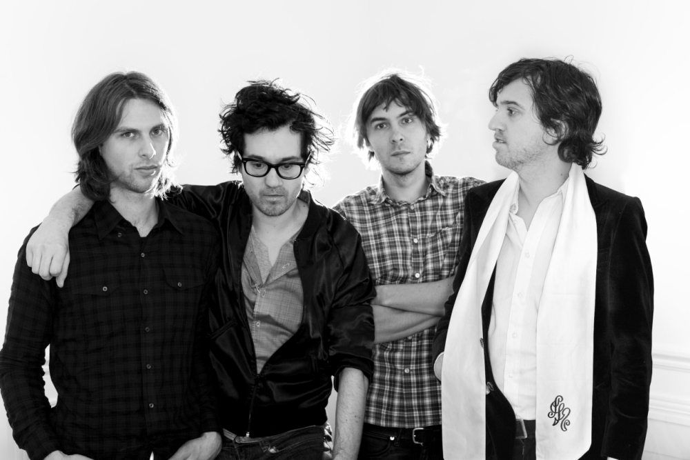 Rock Band: Phoenix formed by members Thomas Mars (vocals),  Deck D'Arcy (bass), Laurent Brancowitz (guitar),  Christian Mazzalai (guitar)  Suave French alt-pop rockers   Phoenix_B2.jpg