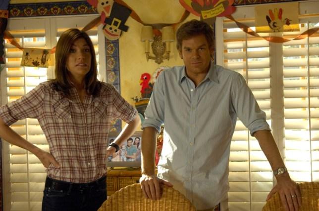 Jennifer Carpenter as Debra Morgan and Michael C. Hall as Dexter (Picture: Supplied)