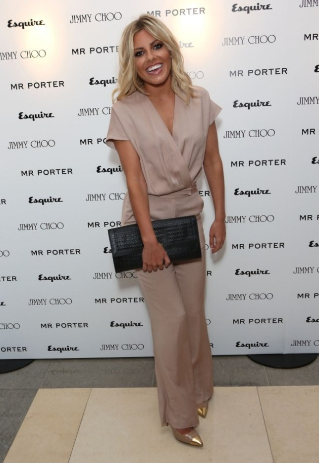 Mollie King arrives for the Esquire, Mr Porter, Jimmy Choo party as part of The Men London Collections at Corinthia Hotel London in London, England.     (Photo by Tim Whitby/Getty Images) LONDON, ENGLAND - JUNE 15 2012