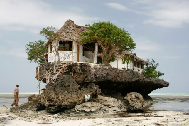 The Rock is perched on top of a piece of coral on the east coast of Zanzibar (Picture: Alamy)
