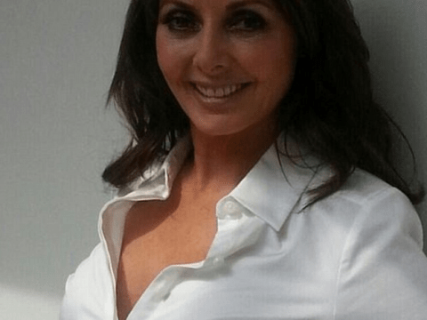 Carol Vorderman shows off her fixed nose as she flaunts her cleavage for photoshoot