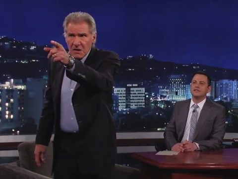 Harrison Ford sends up constant Star Wars questioning on Jimmy Kimmel Live