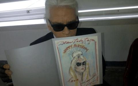 Lady Gaga receives special hand drawn birthday card from Karl Lagerfeld