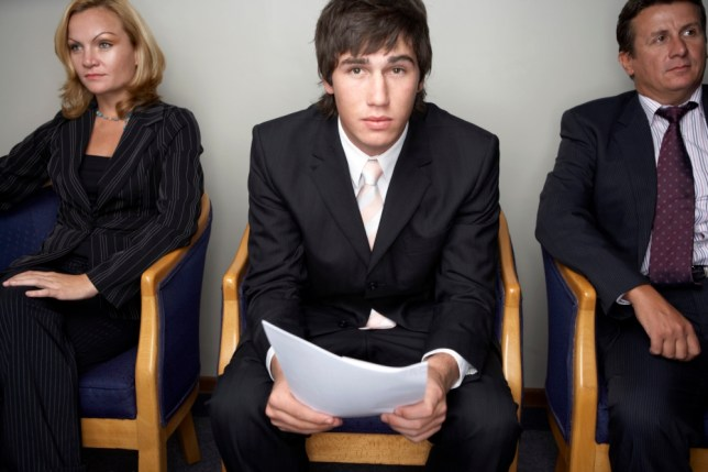 Young Man Nervous about Job Interview --- Image by   Roy McMahon/Corbis 20-25 years 20s adult 25-30 years Adults Business and commerce Businesspeople Competition Eye contact Few Half-length Indoors Job interview Job seeker Job seeking Males Mid-adult Occupations and work People Room Waiting Waiting room Whites Worry Young adult man Young adults