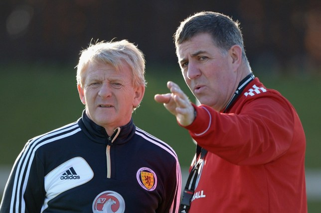 ABERDEEN, SCOTLAND - FEBRUARY 04:  Gordon Strachan coach of Scotland and his assistant Mark McGhee take their first training session as the new management team of Scotland at the Aberdeen Sports village on February 4, 2013 in Aberdeen, Scotland. Gordan Strachan will have his first game in charge against Estonia in an international friendly at Pittodrie on Wednesday. Getty Images