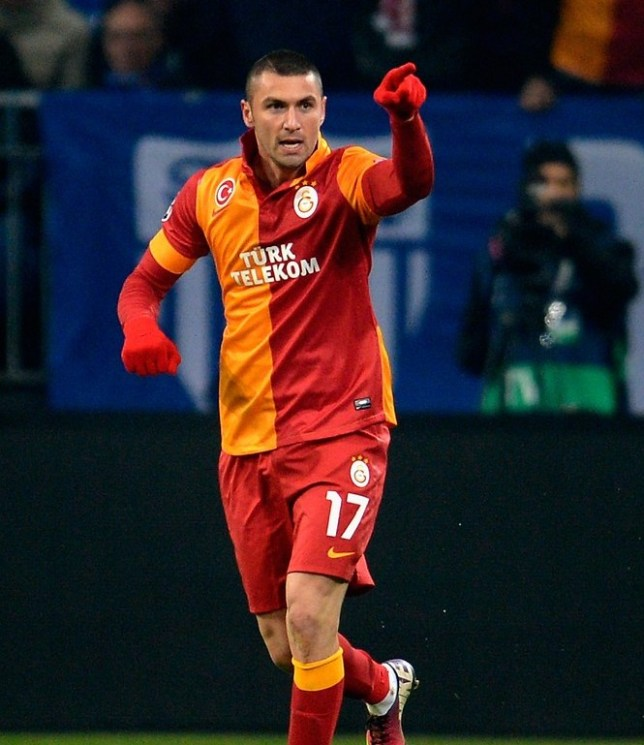 Pointing the way: Burak Yilmaz is wanted by Chelsea (Picture:Getty Images)