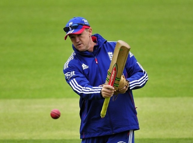 Hard line: England coach Andy Flower has batted away talk of the Ashes (Picture: AFP/Getty Images)