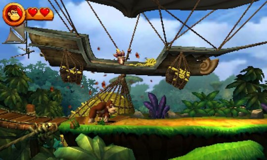 Donkey Kong Country Returns 3D (3DS) - slipping on its own banana skins