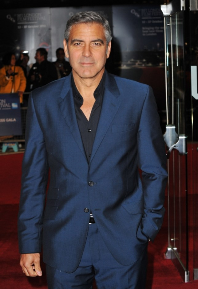 "George Clooney attends ""The Ides of March"" premiere during the 55th BFI London Film Festival at Odeon West End on October 19, 2011 in London, England."