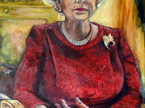 Welsh Rugby Union's portrait of Queen Elizabeth II gets mixed reception