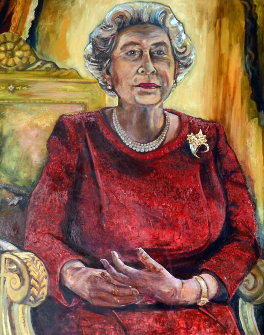 Welsh Rugby Union S Portrait Of Queen Elizabeth Ii Gets