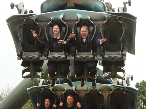 Let's roll: Fun-loving couple spend retirement riding roller coasters around the world