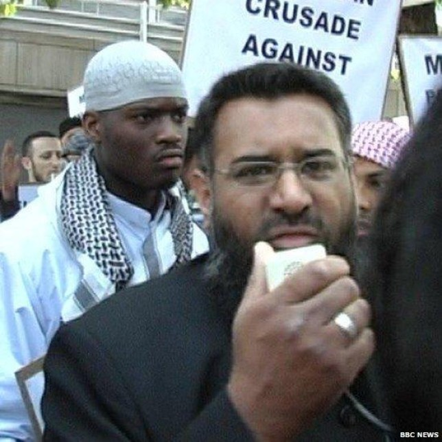 Protest: Adebolajo and Anjem Choudary in 2007