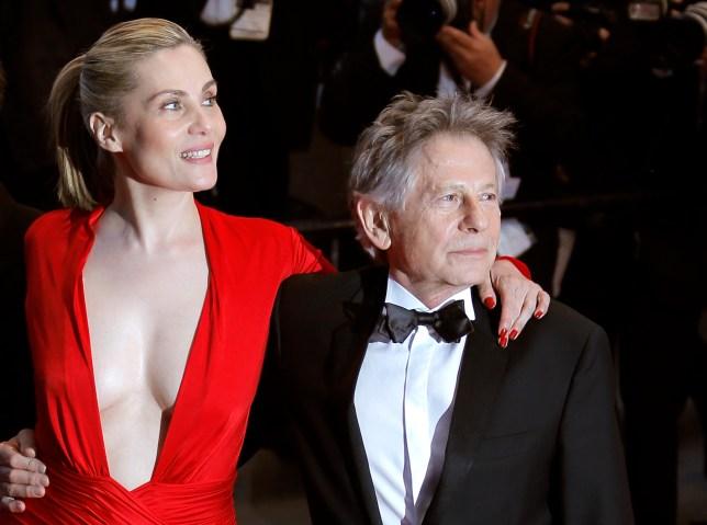 Roman Polanski with his wife Emmanuelle Seigner  at the Venus in Fur premiere (Picture: AP)