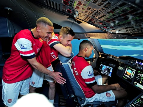 Arsenal trio Alex Oxlade-Chamberlain, Carl Jenkinson and Kieran Gibbs set for career change after successfully landing Emirates aeroplane