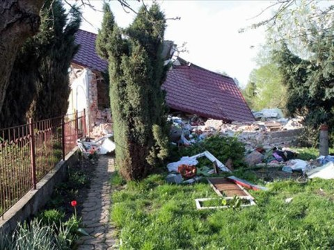 Home alone husband blows up house after explosive row with picnicking wife