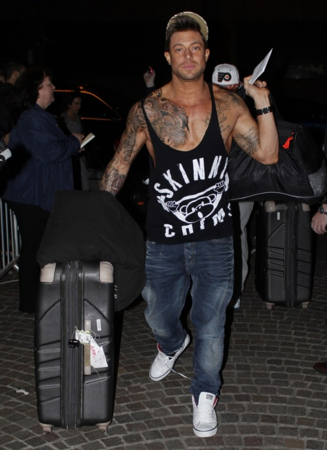 May 8, 2013: The Big Reunion stars arrive at their hotel in Liverpool, UK. Pictured here: Duncan James, Blue Mandatory Credit: INFphoto.com Ref: infuklo-187