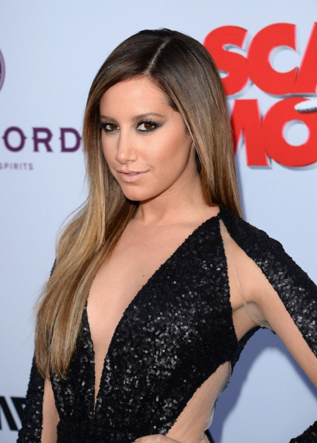 "HOLLYWOOD, CA - APRIL 11:  Actress Ashley Tisdale arrives at the Dimension Films' ""Scary Movie 5"" premiere at the ArcLight Cinemas Cinerama Dome on April 11, 2013 in Hollywood, California.  (Photo by Jason Merritt/Getty Images)"