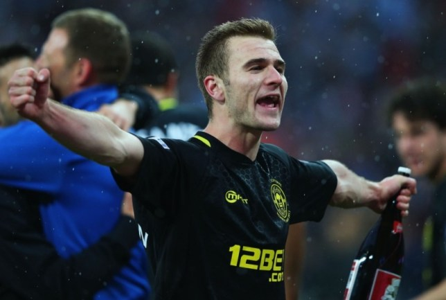 LONDON, ENGLAND - MAY 11:  Man of the match Callum McManaman of Wigan Athletic celebrates victory after the FA Cup with Budweiser Final between Manchester City and Wigan Athletic at Wembley Stadium on May 11, 2013 in London, England.  (Photo by Alex Livesey/Getty Images)