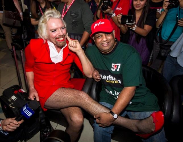 Richard Branson in drag