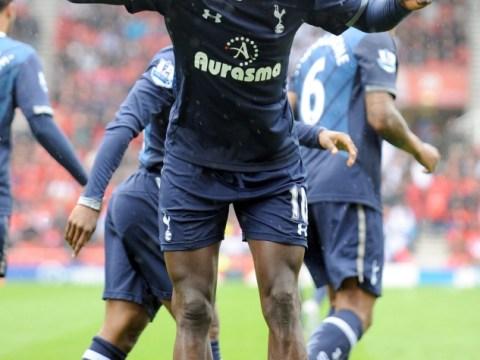 Emmanuel Adebayor winner at Stoke keeps Tottenham's Champions League dream alive