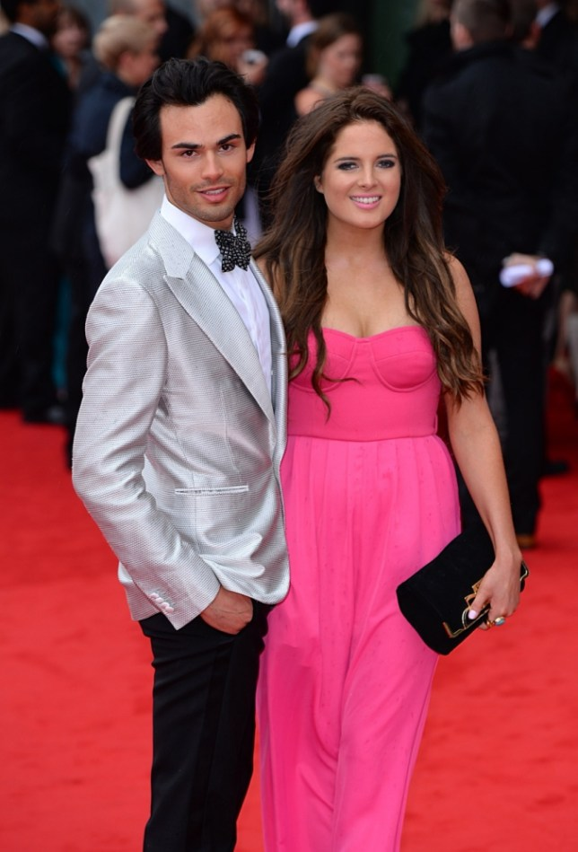 Mark Francis and Alexandra 'Binky' Felstead arriving for the 2013 Arqiva British Academy Television Awards at the Royal Festival Hall, London. PRESS ASSOCIATION Photo. Picture date: Sunday May 12, 2013. See PA story SHOWBIZ Bafta. Photo credit should read: Dominic Lipinski/PA Wire