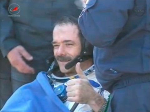 The man who fell to Earth: Chris Hadfield returns after ISS mission ends
