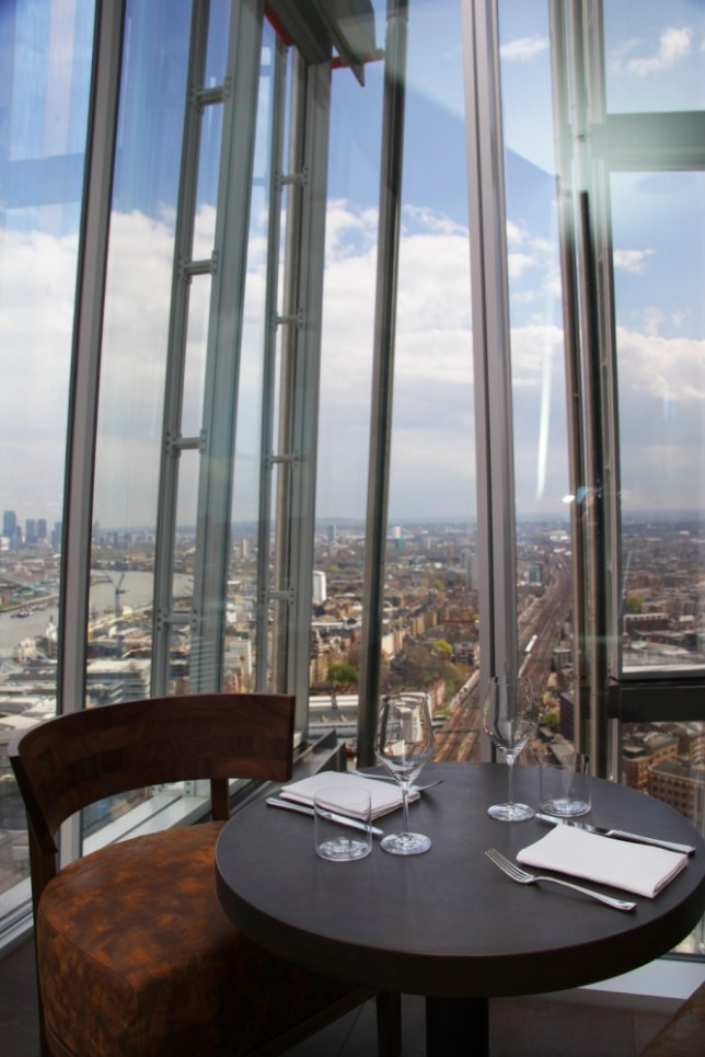 Stunning views from The Shard's Oblix restaurant (Picture: Supplied)