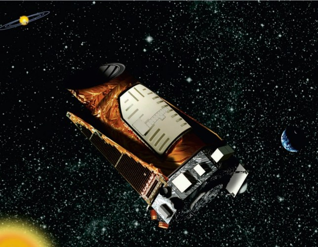 FILE - This file artist's rendering provided by NASA shows the Kepler space telescope. The Kepler spacecraft lost the second of four wheels that control the telescope's orientation in space, NASA said Wednesday, May 15, 2013. If engineers can't find a fix, the failure means Kepler won't be able to look for exoplanets ó planets outside our solar system anymore. (AP Photo/NASA, File)