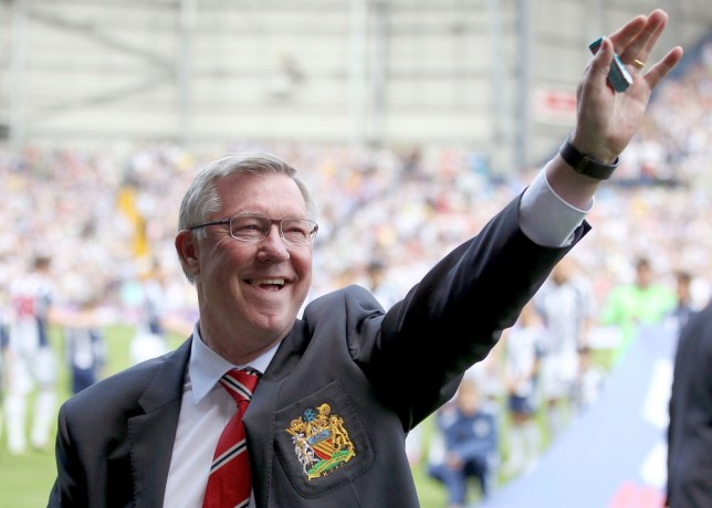 Manchester United manager Sir Alex Ferguson salutes the fans prior to kick-off during the Barclays Premier League match at the Hawthorns, West Bromwich. PRESS ASSOCIATION Photo. Picture date: Sunday May 19, 2013. See PA story SOCCER West Brom. Photo credit should read: Nick Potts/PA Wire. RESTRICTIONS: Editorial use only. Maximum 45 images during a match. No video emulation or promotion as 'live'. No use in games, competitions, merchandise, betting or single club/player services. No use with unofficial audio, video, data, fixtures or club/league logos.