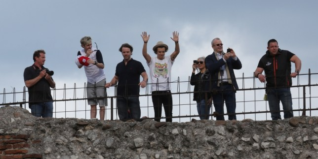 One Direction were in Verona on Sunday for a sell-out performance in an iconic piece of history