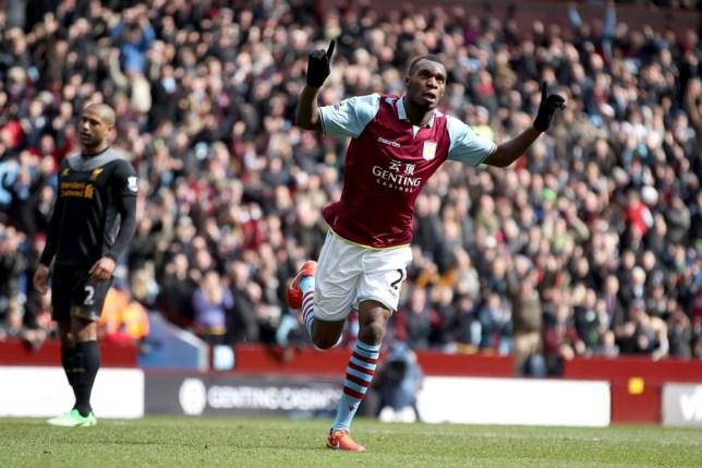 File photo dated 31/03/2013 of Aston Villa's Christian Benteke (right) celebraing scoring. PRESS ASSOCIATION Photo. Issue date: Monday May 20, 2013. In a season of gloom at Aston Villa, Benteke has been the shining light. See PA Story SOCCER Premier League Signings. Photo credit should read: Nick Potts/PA Wire. Editorial use only. Maximum 45 images during a match. No video emulation or promotion as 'live'. No use in games, competitions, merchandise, betting or single club/player servies. No use with unofficial audio, video, data, fixtures or club/league logos.