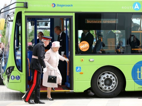 Gallery: Queen Elizabeth II rides guided bus on visit to Cambridge