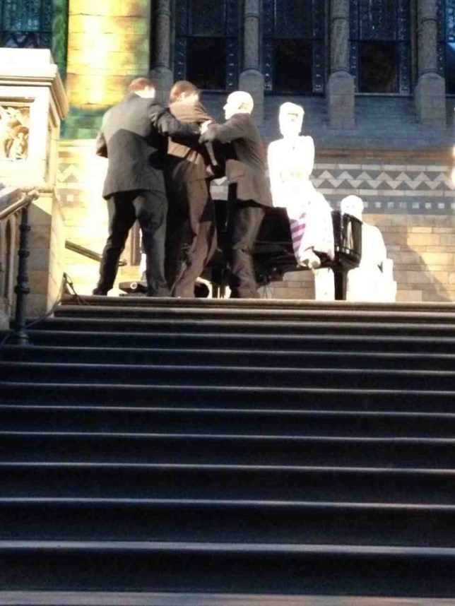 Sir John Madejski was escorted from the Natural History Museum. Not many knights of the realm can say that (Picture: The Sun)