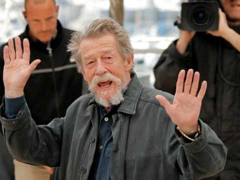 Legendary actor Sir John Hurt, 75, is 'optimistic' about cancer treatment